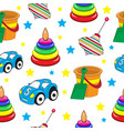 baby toys seamless texture children s wallpaper vector image