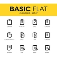 Basic set of clipboards icons vector image