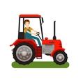 Farm tractor icon Cartoon vector image