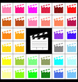 Film clap board cinema sign felt-pen 33 vector image