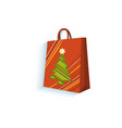 flat present gift paper bag isolated vector image