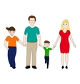 Happy family mother and father with two sons vector image
