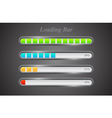 Modern color loading bars set vector image