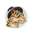 portrait tiger glasses hipster style modern vector image