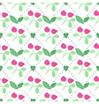 Seamless watercolor pattern with cranberries on vector image