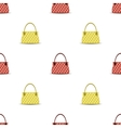 Seamless Womens Handbag Pattern vector image