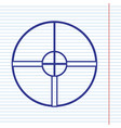 sight sign navy line icon on vector image