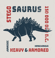Stegosaurus t-shirt design print typography label vector image