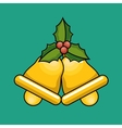 gold bells christmas icon vector image