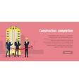 Construction Completion Building Design Web Banner vector image