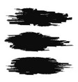 brush stroke collection black grunge texture vector image
