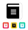 Text book icon vector image