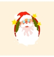 Santa Claus wearing Glasses vector image
