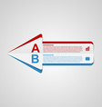 creative paper arrow infographic template vector image
