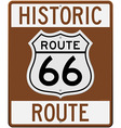 historic route 66 sign vector image vector image