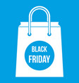 black friday shopping bag icon white vector image