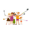 family members parents and children make selfie vector image