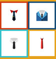 flat icon clothing set of textile tailoring suit vector image