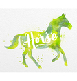 Painted animals horse vector image