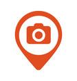 photo camera flat mapping pin icon vector image