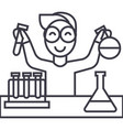 science in school lab tests line icon vector image