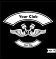 vintage motorcycle club design elements vector image