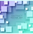 3d abstract squares background in blue color vector image