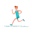 sportsman character young adult man running vector image vector image