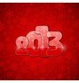2013 year from glass vector image