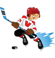 Cartoon sports player vector image vector image