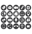 Media communication icons vector image