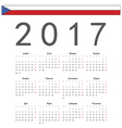 Square Czech 2017 year calendar vector image vector image