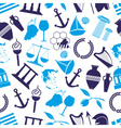 greece country theme symbols seamless blue pattern vector image