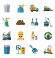 Garbage Recycling Color Icons vector image