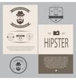 Vintage hipster design elements set vector image