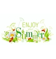 Summer natural background design with beautiful vector image