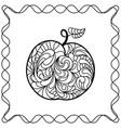 apple ontour black pattern in doodle style vector image