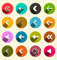 Colorful Flat Design Simple Arrows Set in Circles vector image
