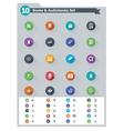 Flat e-book icon set vector image