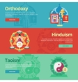 Flat religions concepts icons vector image