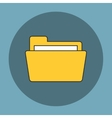 Folder flat icon vector image