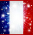 french flag background vector image