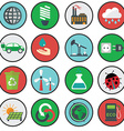 green eco icons ecology vector image