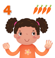 Learn number and counting number four vector image