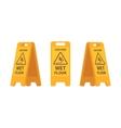 Set of wet floor sign vector image
