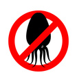 Stop squid Prohibited octopus Anhui Conch crossed vector image