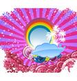 summer disco banner vector image