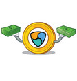 with money nem coin character cartoon vector image