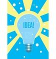 Light bulb idea concept Creative thinking vector image