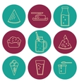 Dairy icons set in line style design vector image